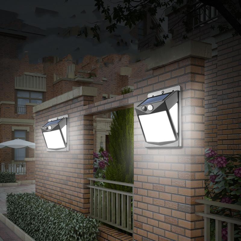户外壁灯防水LED人体感应太阳能路灯