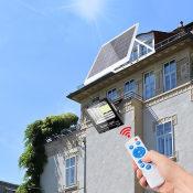 戶外超亮大功率led防水太陽能遙控路燈