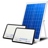 戶外一拖二防水超亮LED太陽能遙控路燈